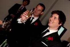 The best men raise their glasses