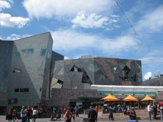 The Square is bordered by the Australian Centre for the Media Arts (very cool)