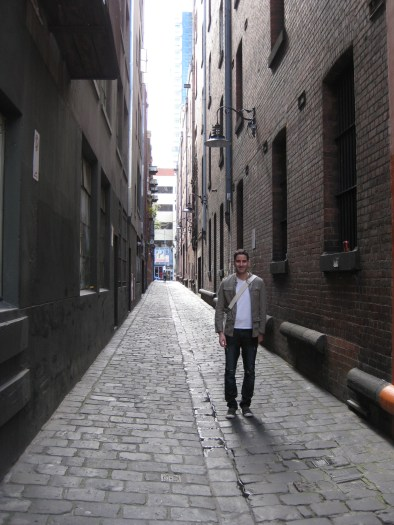 Wait...so what are we looking for in this non-descript alley?