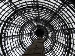 With the tour done, we hit the mall. Encased within is Coop's Shot Tower, a 50 meter high historic building completed in 1888 and now a museum. Cool...and weird