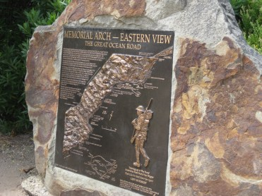 Plaque on monument