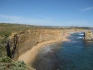 To the left, the beautiful coastline...