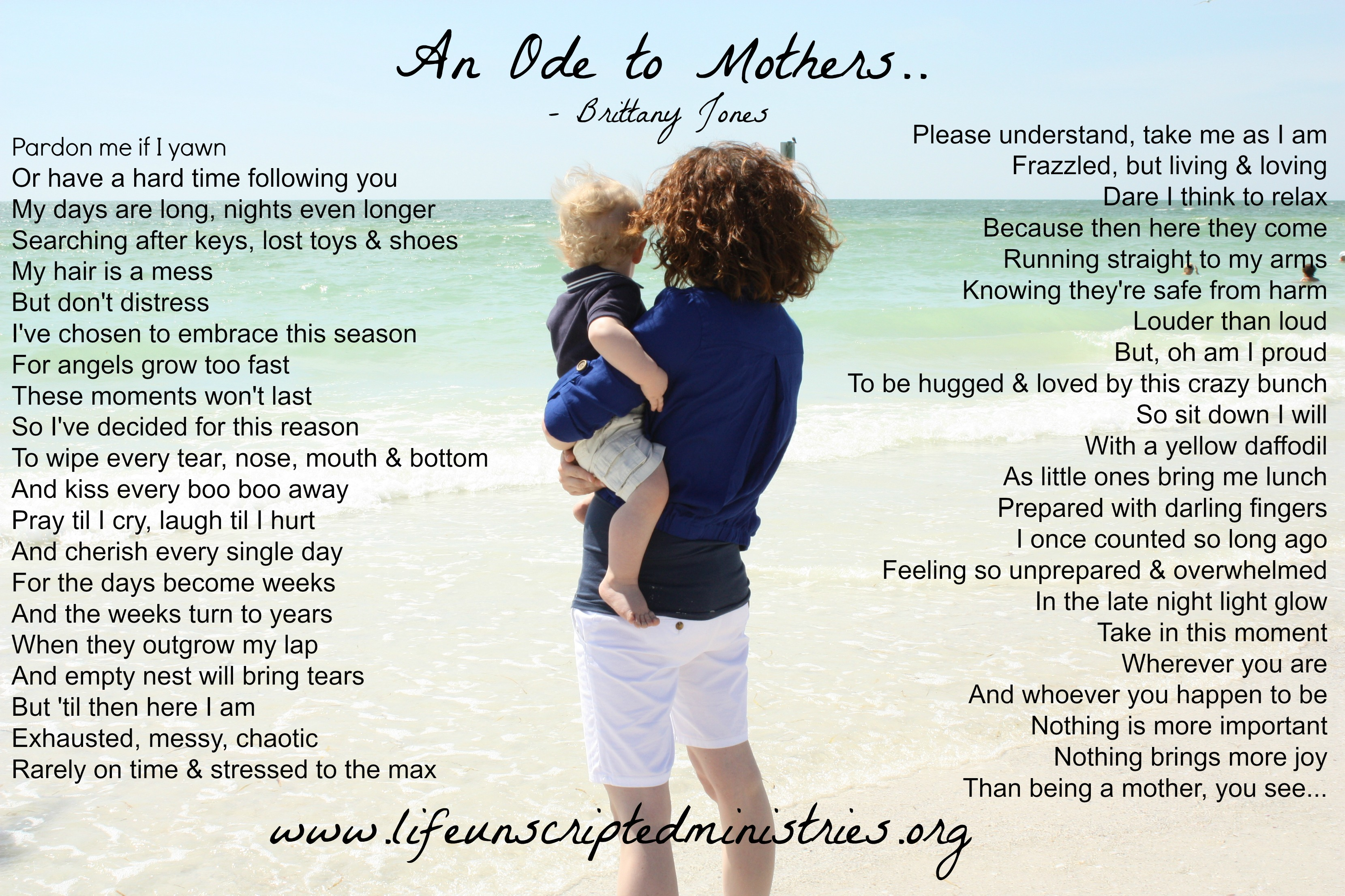 Ode To Mothers Life UnScripted Ministries