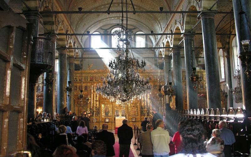 Η πατριαρχική εκκλησία του Αγίου Γεωργίου στο Φανάρι, της Κωνσταντινούπολης.