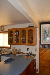 ranch house kitchen south wall with divider counter