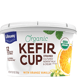 Orange Vanilla Organic Kefir Cup