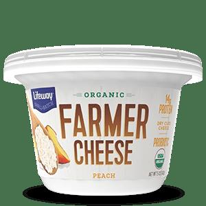 Peach Organic Farmer Cheese Cup