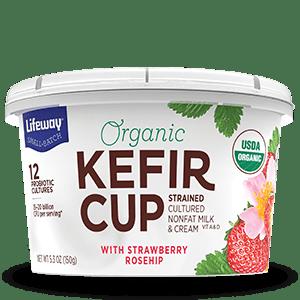 Strawberry Rosehip Organic Kefir Cup