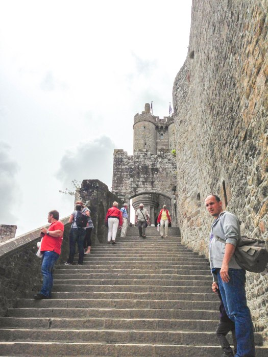 mont saint michel stairs