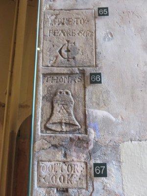 prisoner graffiti in the tower of london