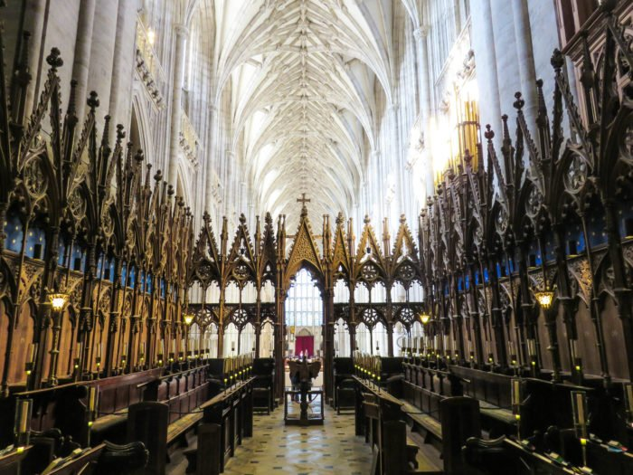 winchester cathedral choir interior