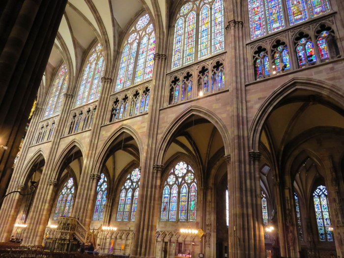 strasbourg cathedral clerestory stained glass