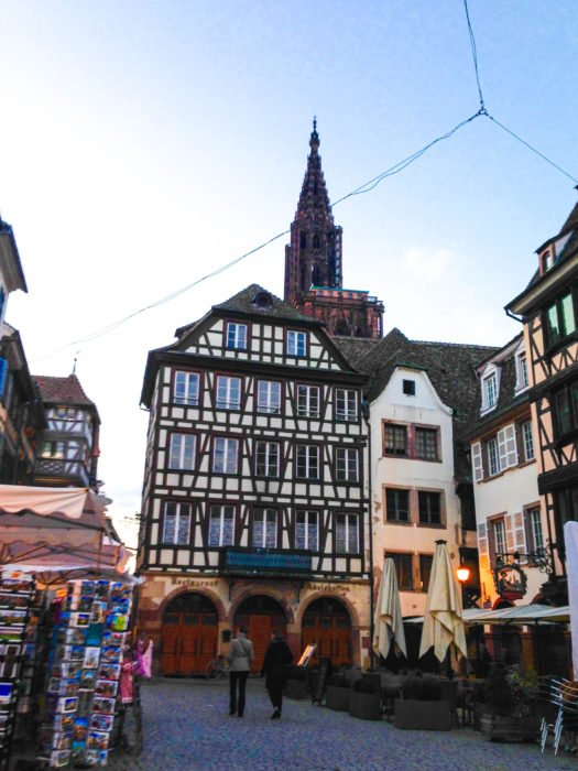 strasbourg at twilight