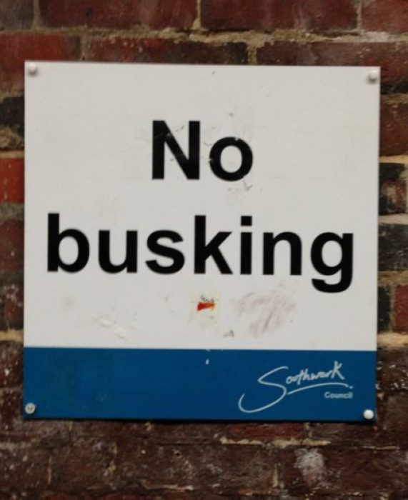 no busking london