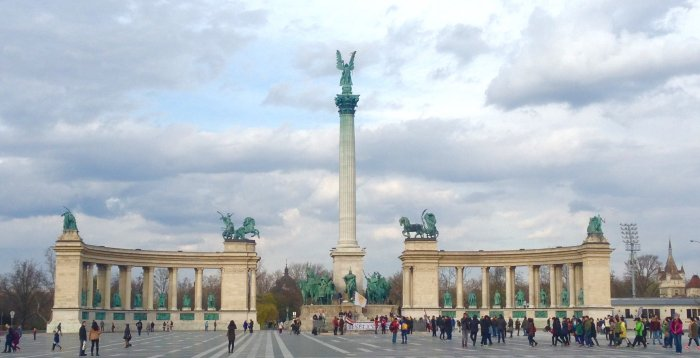 heroes square budapest hungary image