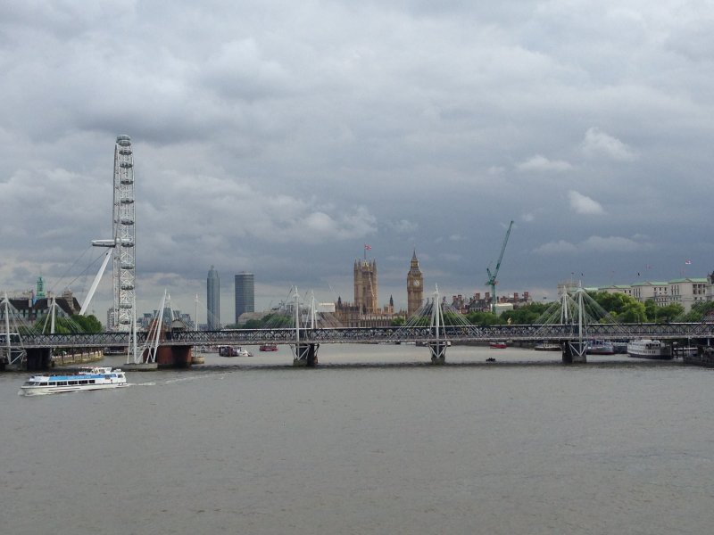 london waterloo bridge the eye big ben parliament thames