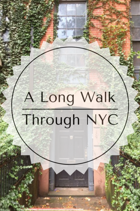 A long walk through nyc