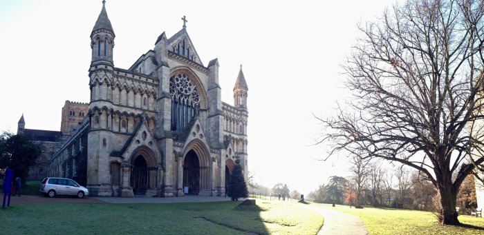 st albans cathedral exterior image panoramic