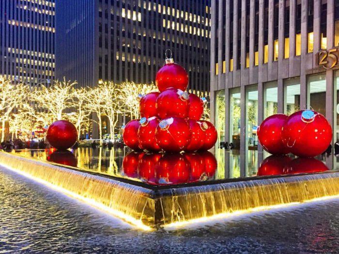 radio city music hall giant christmas baubles