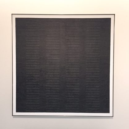 agnes martin exhibition piece guggenheim nyc