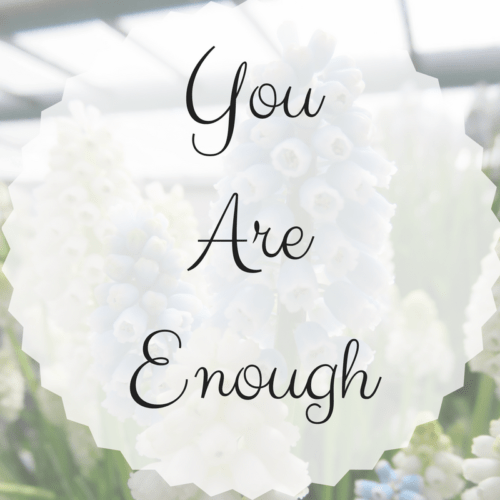 Every person's story with their mental health is different. Just know that you are enough and you are not alone.