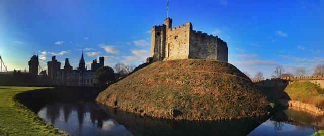 cardiff castle motte wales