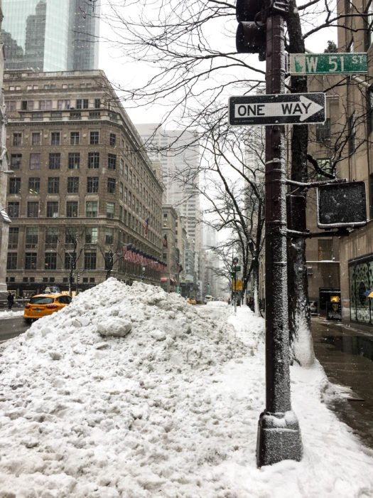 west 51st street nyc snow
