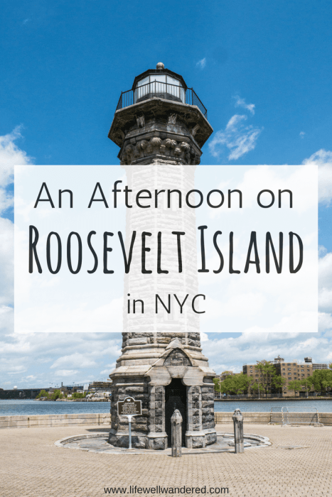 Roosevelt Island is a small island in NYC between Manhattan and Queens. It makes a great, easy break from the noise and fast-paced life of New York City.