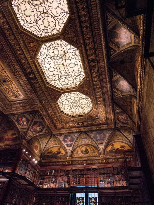 the morgan library interior ceiling