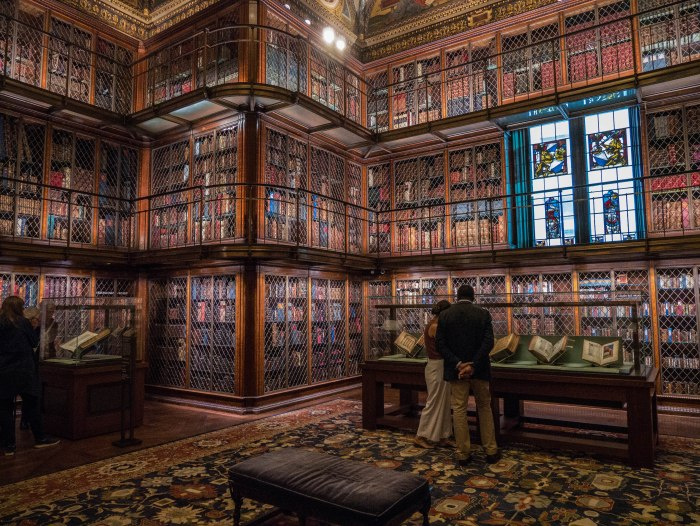 the morgan library interior books