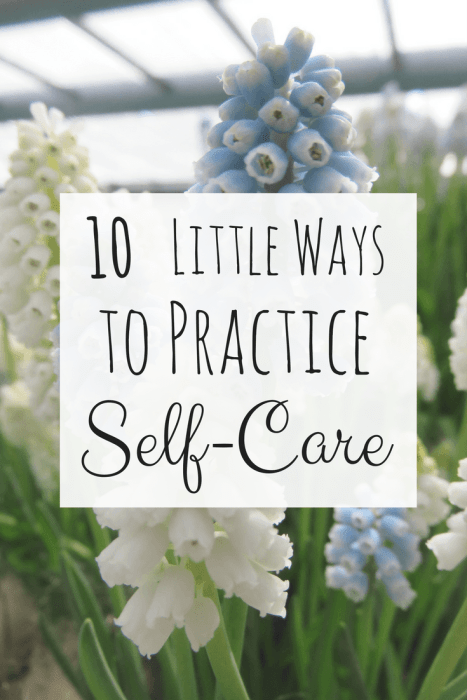 Self-Care doesn't have to involve intense yoga or long periods of meditation. There are little ways you can practice self-care every day that will help improve your body and mind. Click to read about little ways you can practice self-care daily.