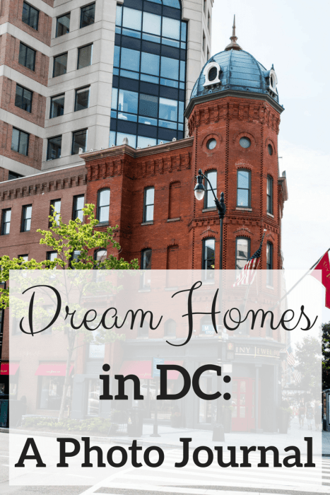 DC is a mecca for beautiful homes. This photo journal shows you some of the prettiest homes in the Washington DC.