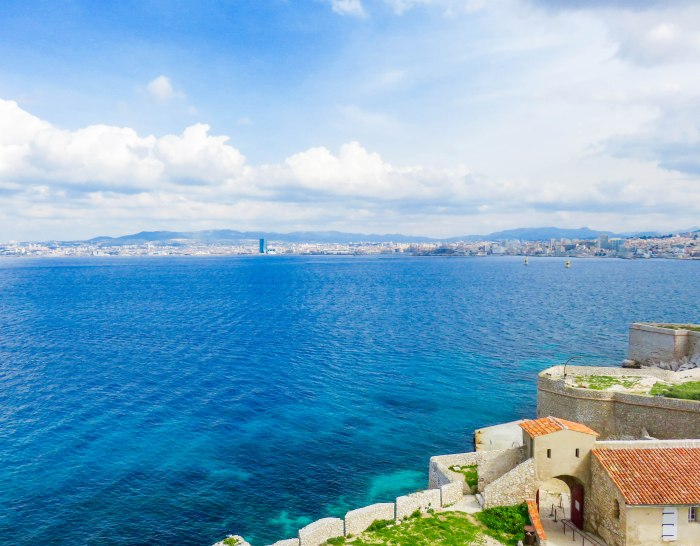 views from chateau dif marseille france