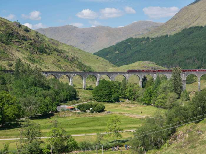 glenfinnan viaduct scottish highlands harry potter train