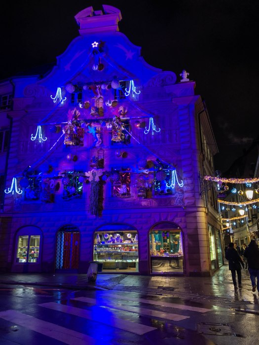 decorations in strasbourg france during christmas