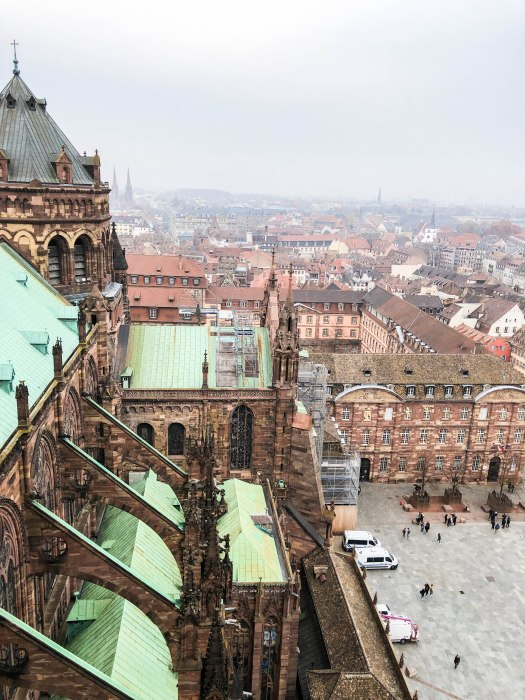strasbourg cathedral from above