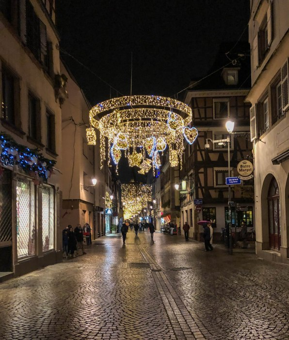 christmas lights in strasbourg france