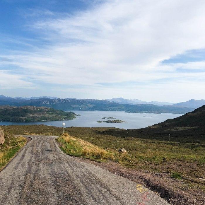 single track road applecross scotland