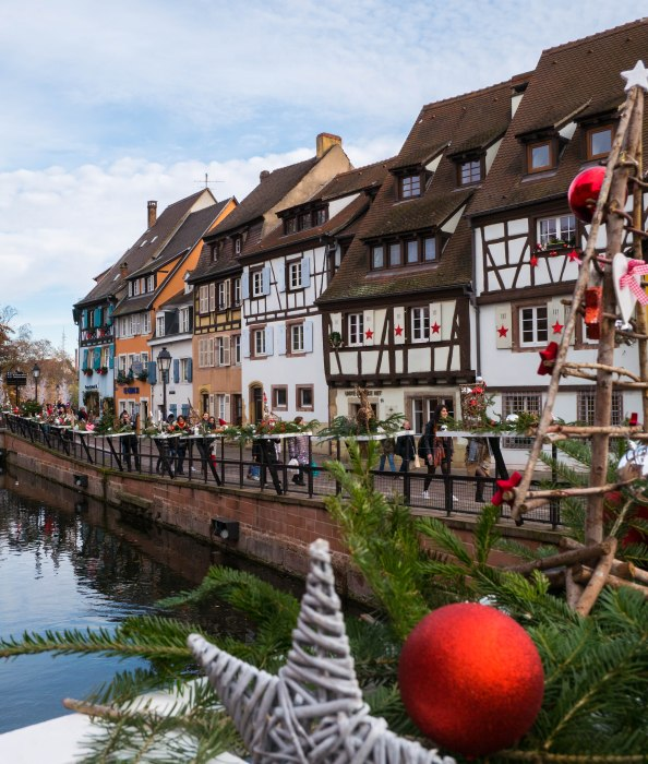 colmar france la petite venise at christmas