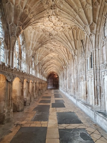 gloucester cathedral cloisters in england