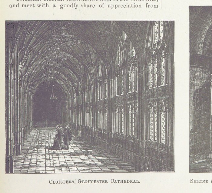 gloucester cathedral cloisters from 1891