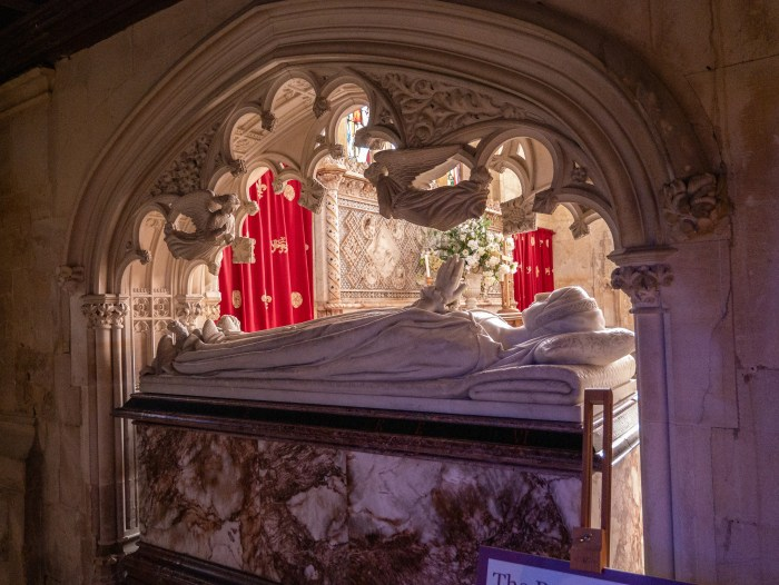 catherine parr's tomb in sudeley castle's st. mary's church
