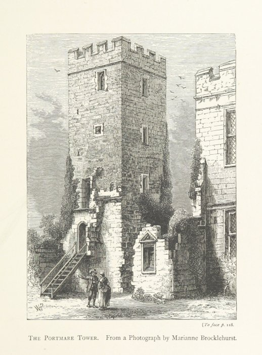 portmare tower sudeley castle from 1877