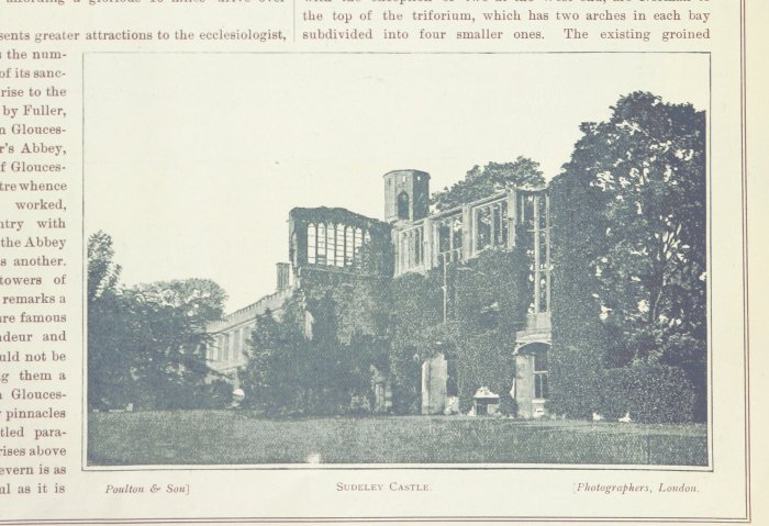 ruins of richard III's banqueting hall from 1893