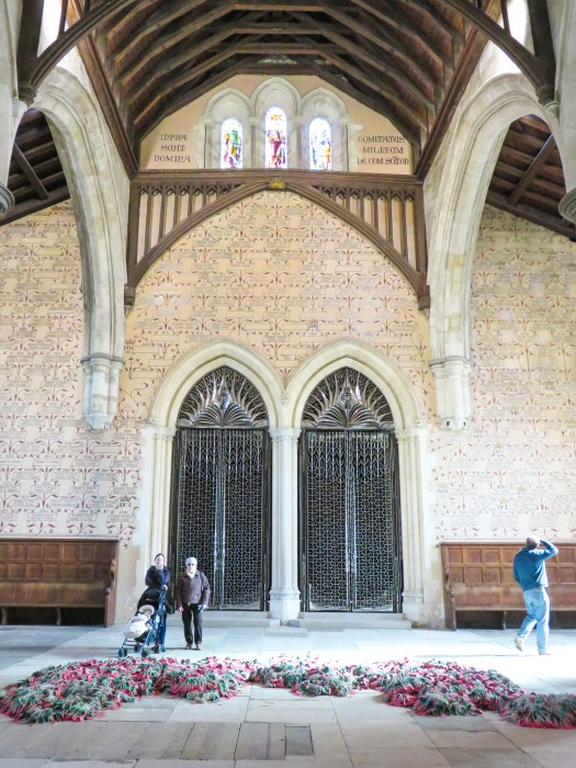 great hall interior winchester hampshire england