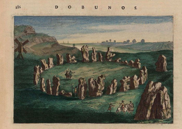 an image of the rollright stones kings men stone circle from 1645 to 1662
