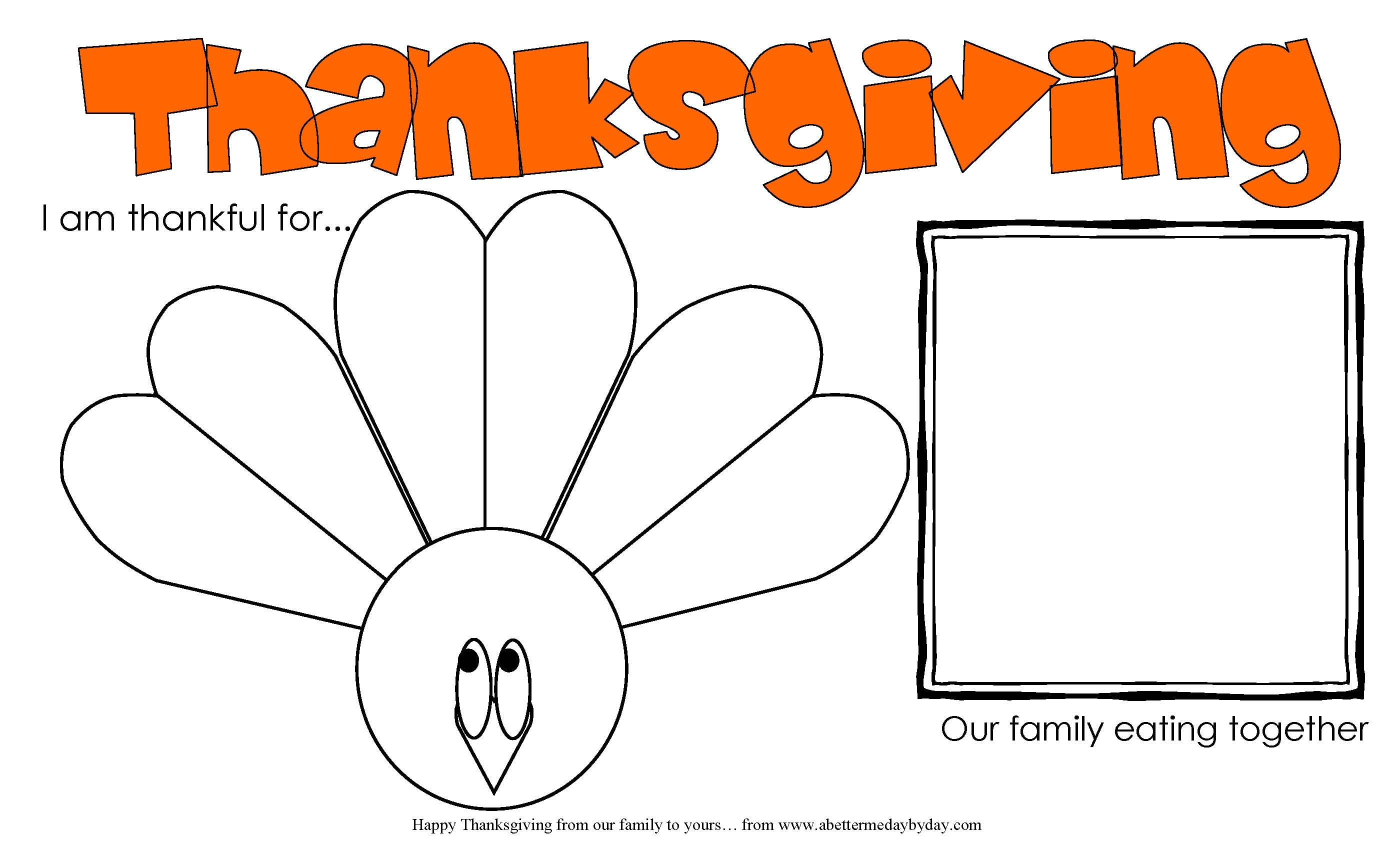 Free Printable Thanksgiving Activity Place Mat For Kids