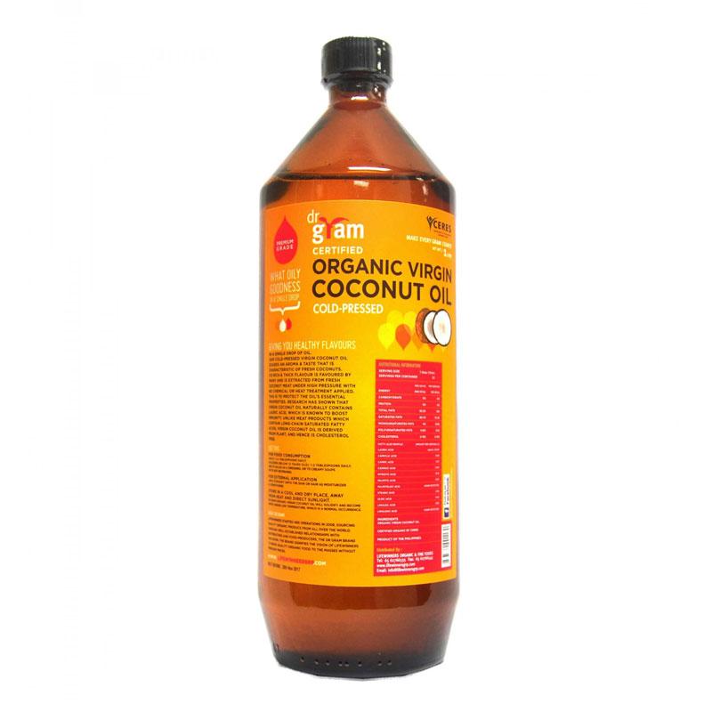 Dr Gram Organic Virgin Coconut Oil 1L - Lifewinners ...