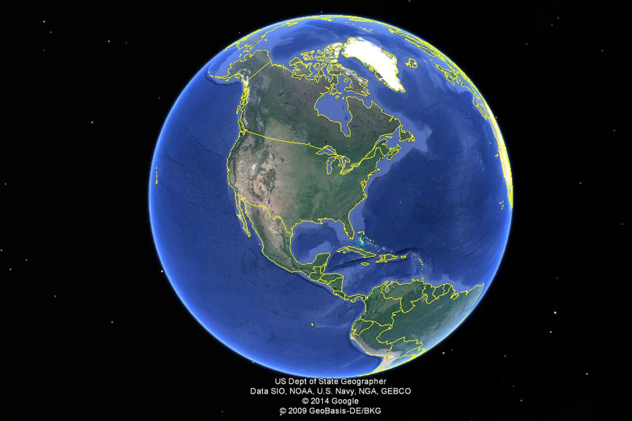 Where's The Center Of Google Earth?