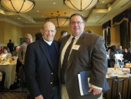 Murray Schneps with SIDDC's Michael Weinberg. Photo: Meredith Arout for Life-Wire News Service.